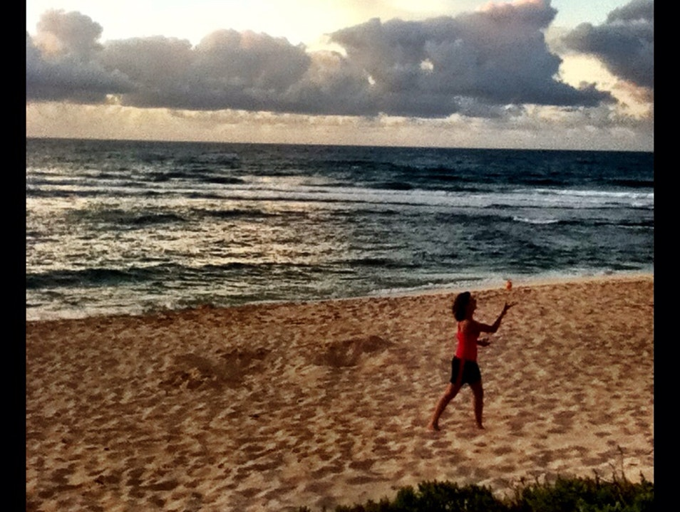 Juggling In The Hawaiian Sunset