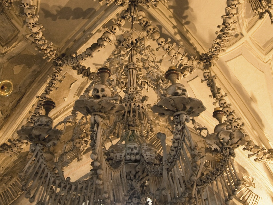 Unlikely Art:  Sedlec Ossuary Kutna Hora  Czechia