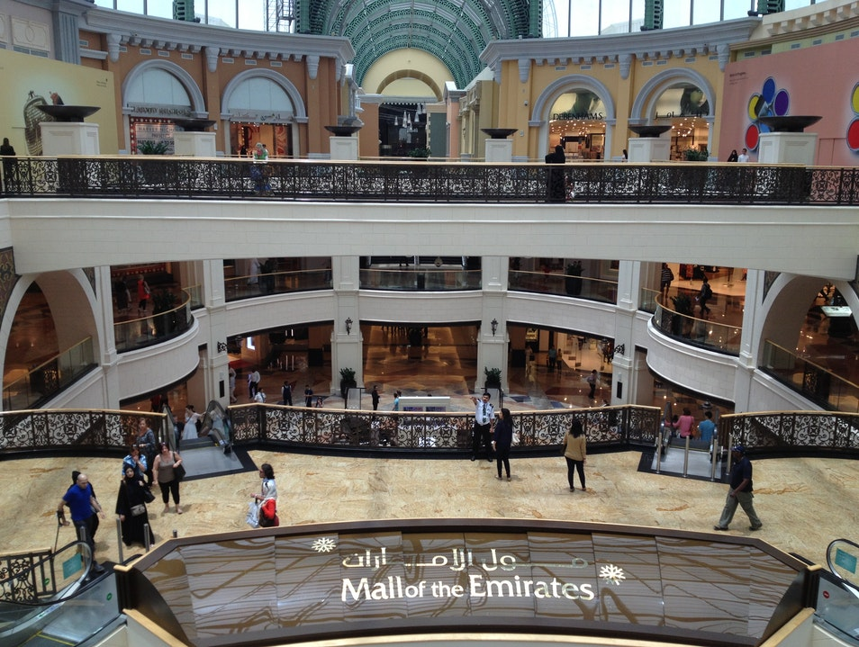 Mall of the Emirates—a package of entertainment  Dubai  United Arab Emirates