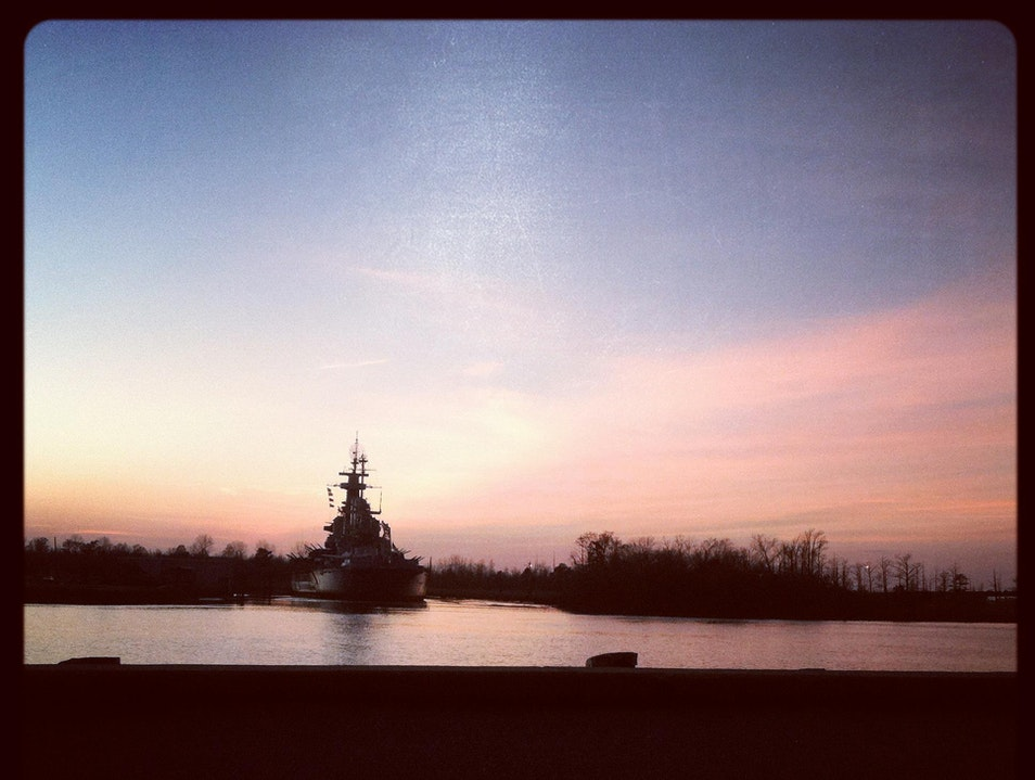 The NC Battleship on the Cape Fear River
