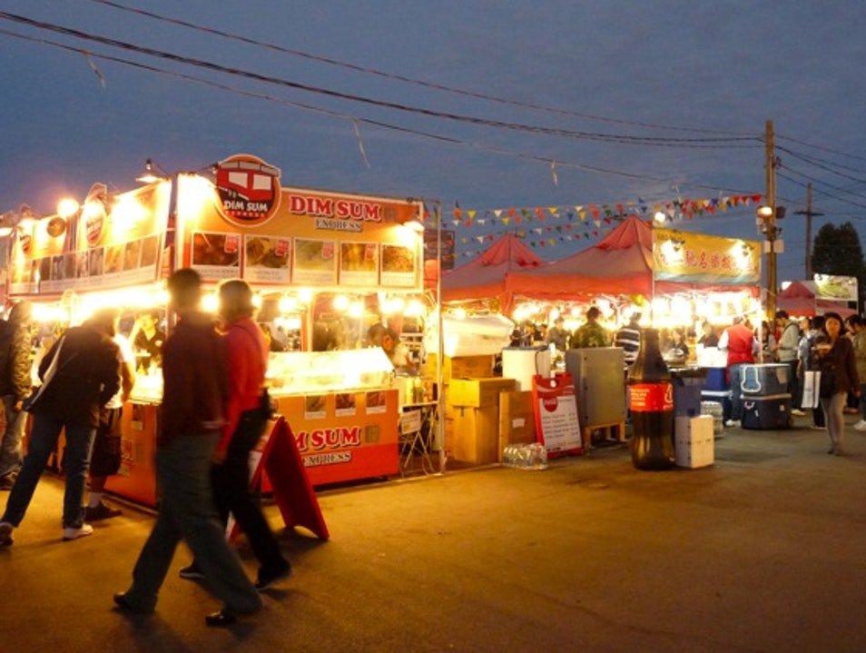 Foodie Heaven at the Night Market Richmond  Canada