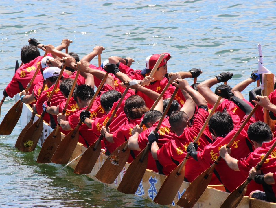 Dragon Boat Races Sasebo  Japan