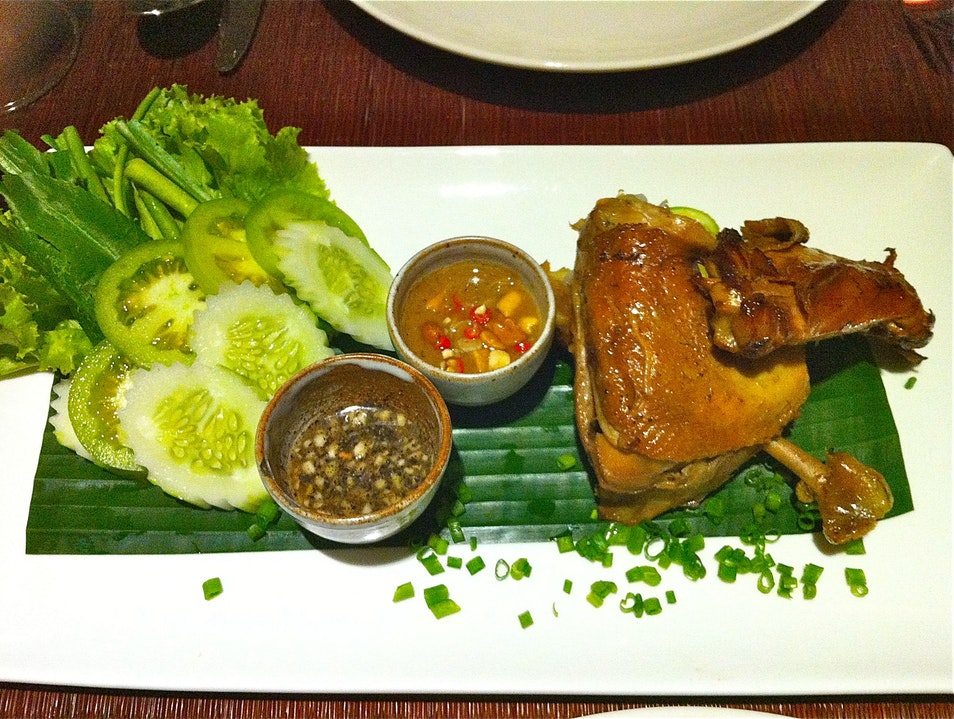 Try refined Khmer cuisine on the riverside Siem Reap  Cambodia