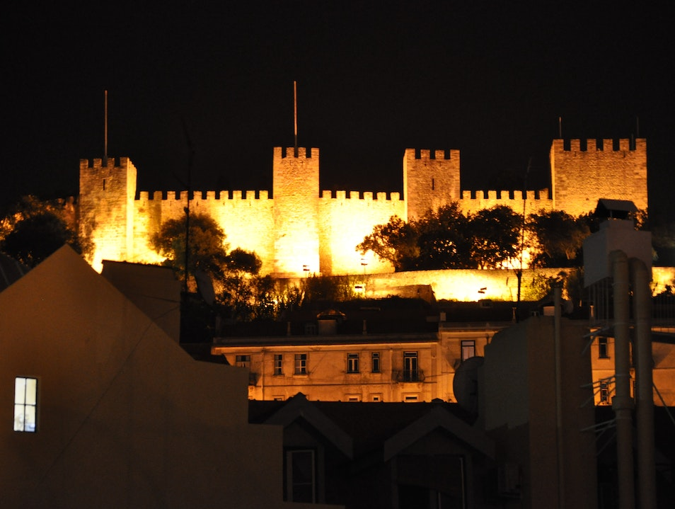 The Nighttime Magic of Castelo de Sao Jorge  Lisbon  Portugal