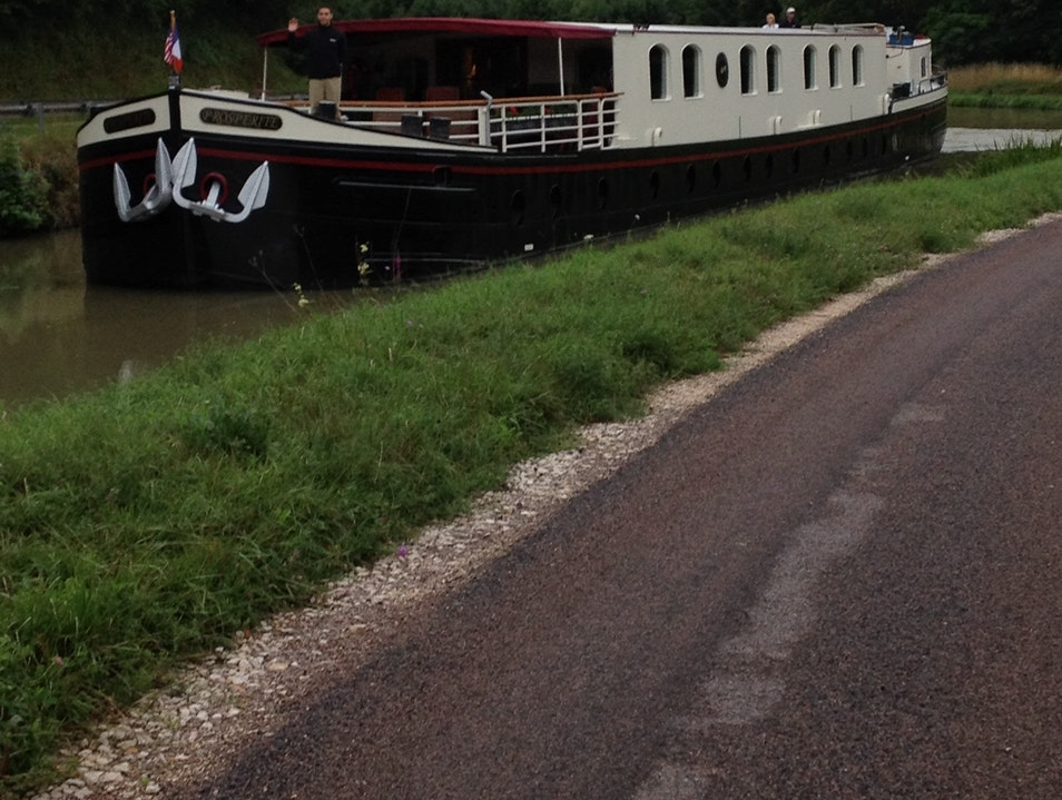 Canal barging in France