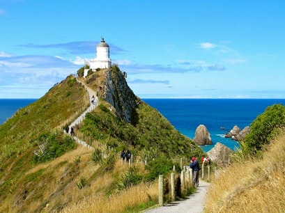 Nugget Point Lighthouse Ahuriri Flat  New Zealand