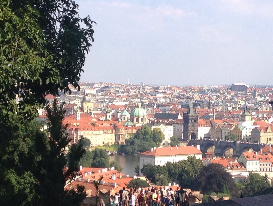 View from Prague Castle Prague  Czech Republic