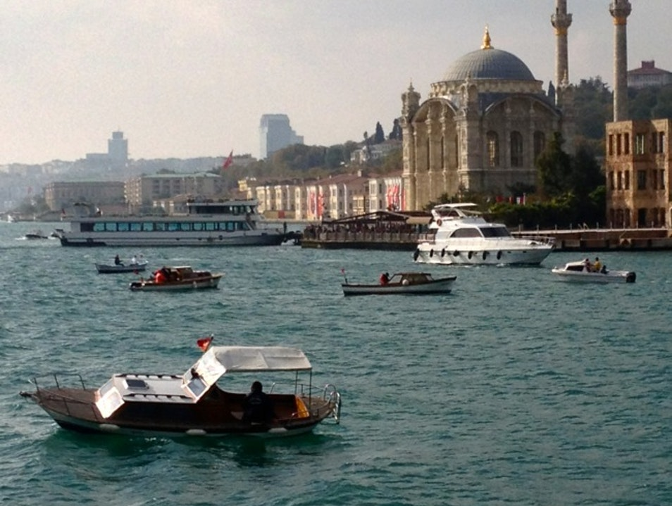 Boat ride on the Bosphorus Istanbul  Turkey