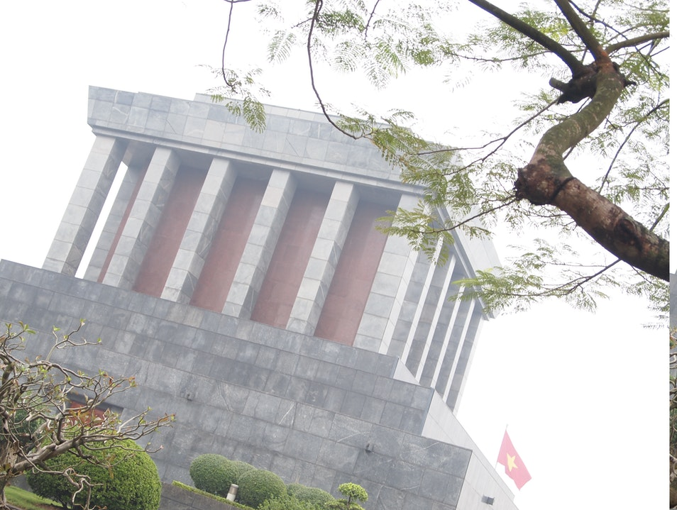 Stop by the Ho Chi Minh Mausoleum