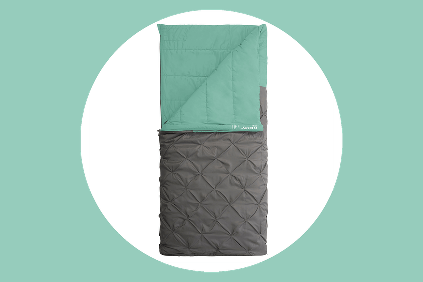 The Kelty Kush 30 can be used as a sleeping bag, quilt, or pillow.