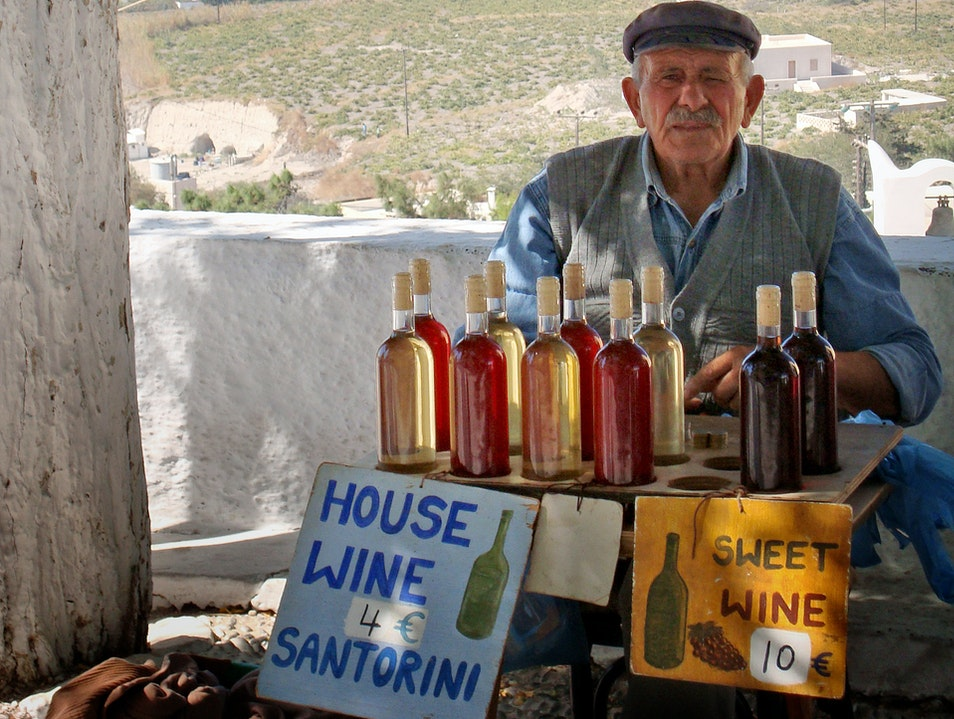 Homemade Greek Wine Thira  Greece