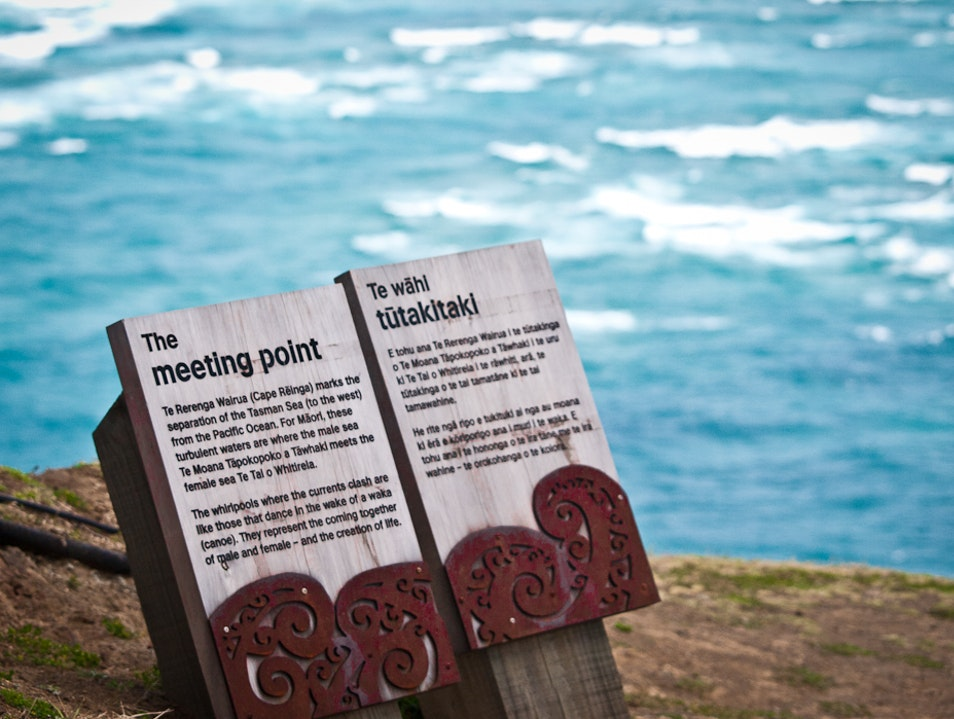 the meeting point Cape Reinga  New Zealand