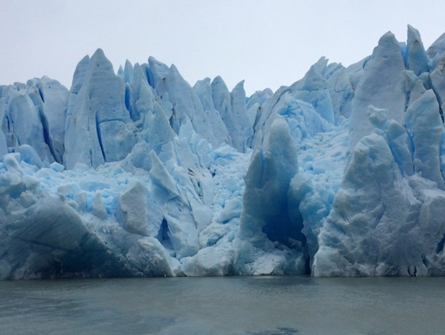 Massive  glacier in Torres del Paine NP