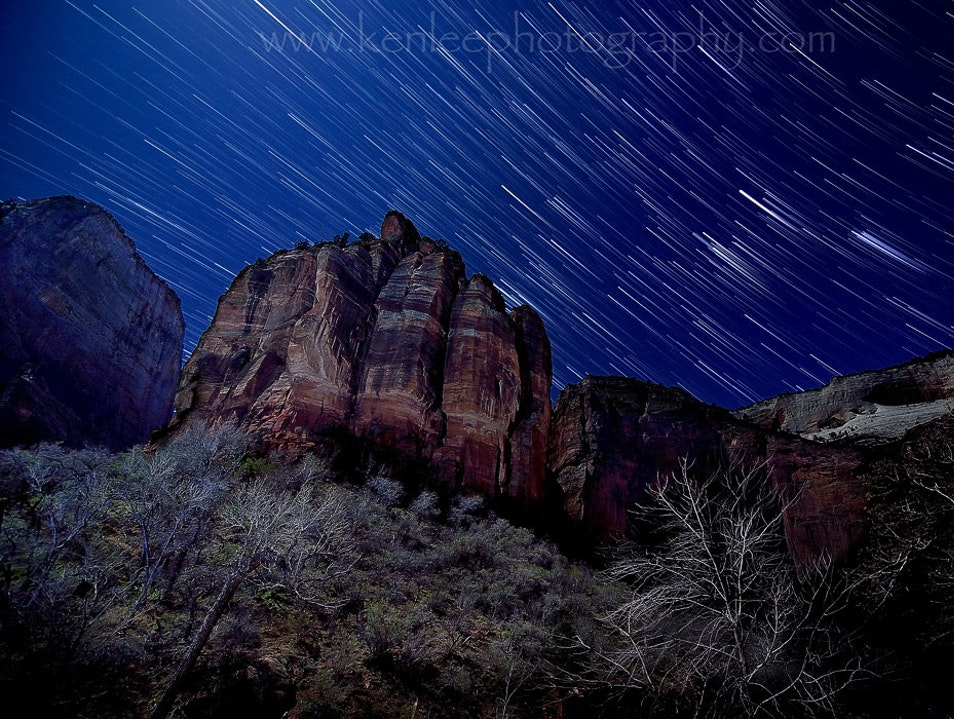 Zion National Park - Big Bend Star Trails Kanab Utah United States