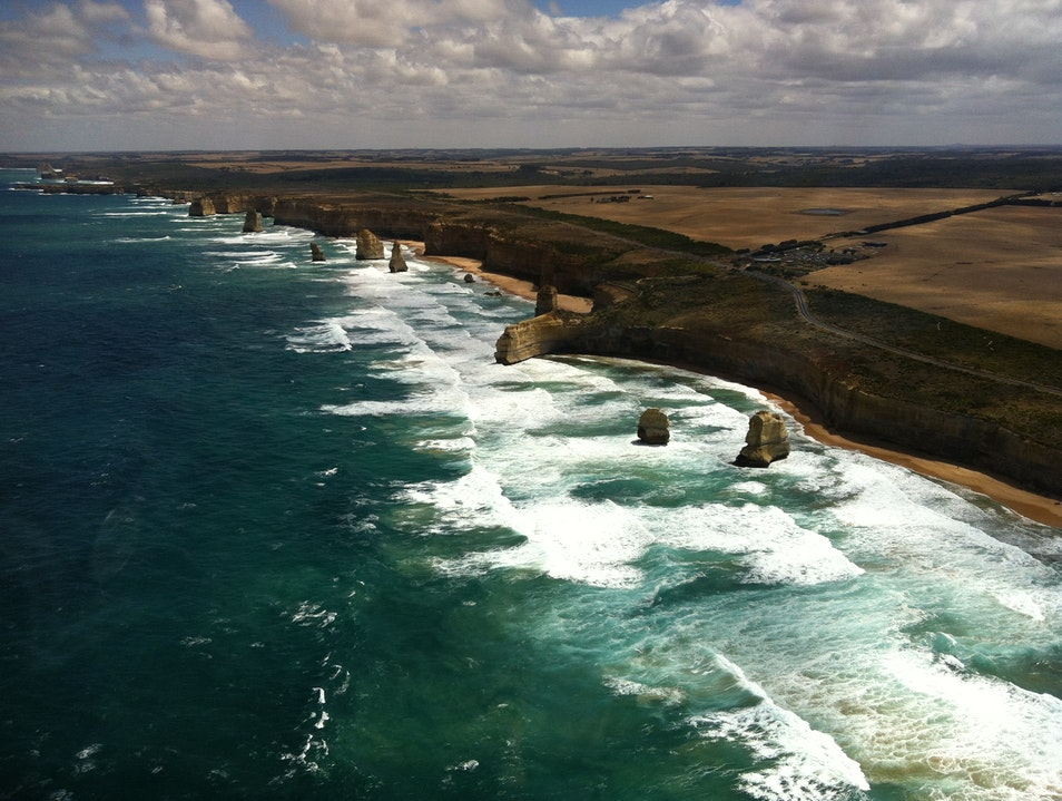 Up in the Air Over the 12 Apostles Princetown  Australia