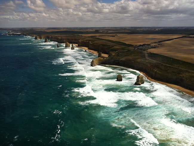 Up in the Air Over the 12 Apostles