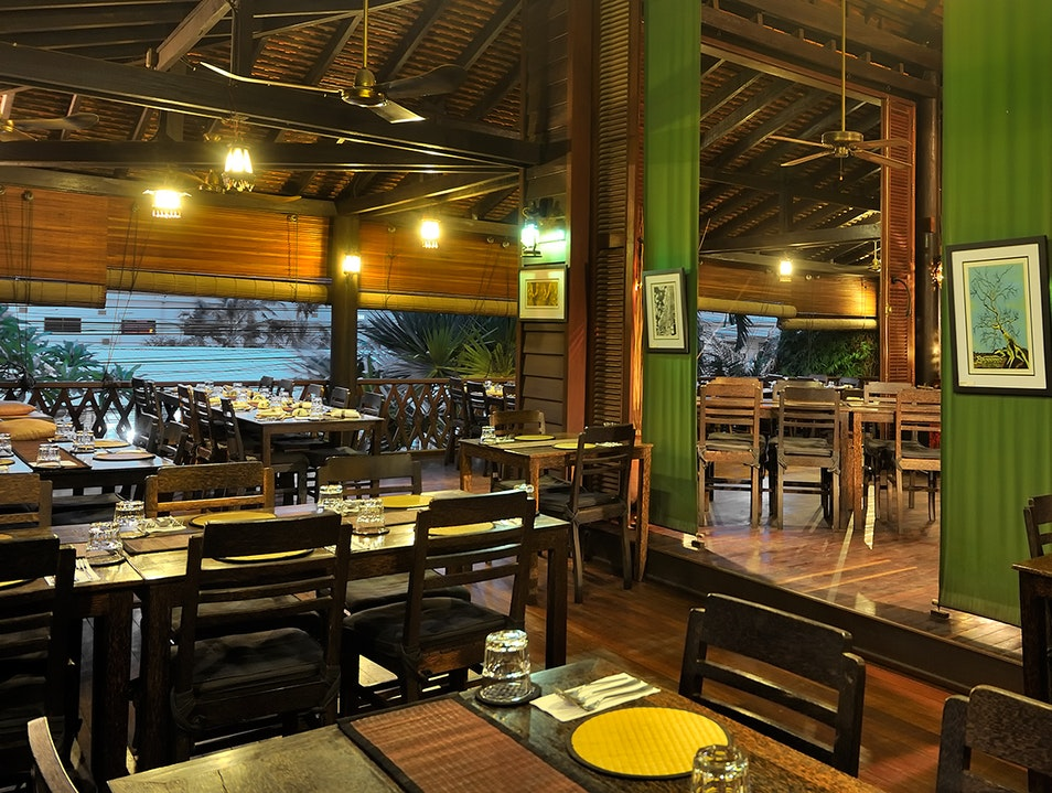 Tuck into Cambodian food in a traditional house Siem Reap  Cambodia