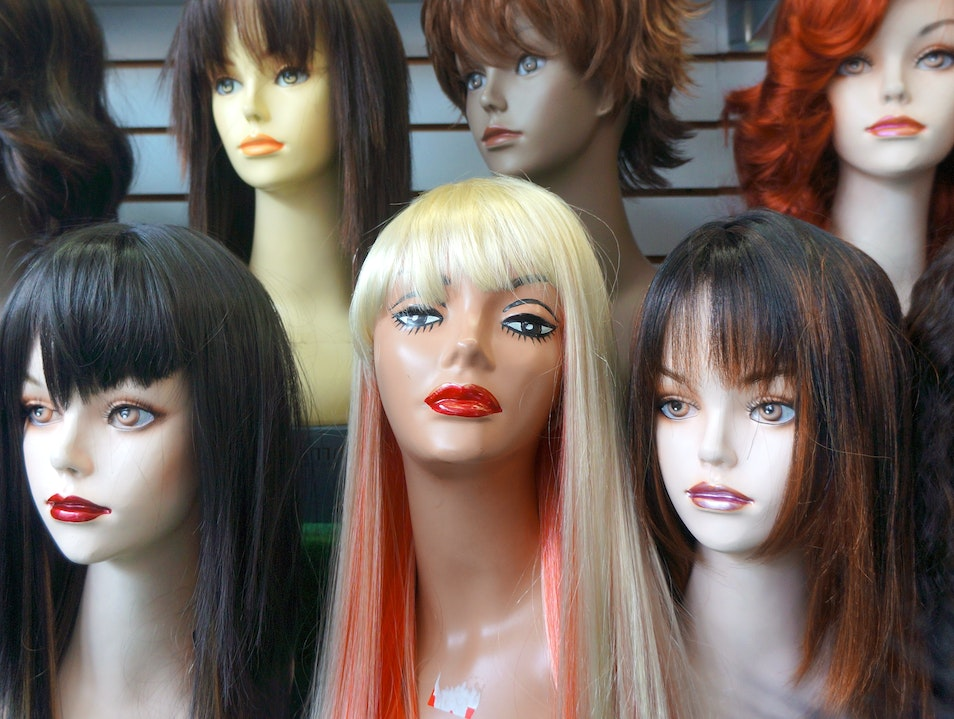 Halloween Wigs at Heads and Threads Chicago Illinois United States