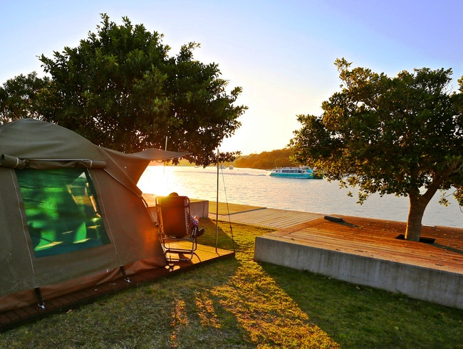 Camping on Cockatoo Island