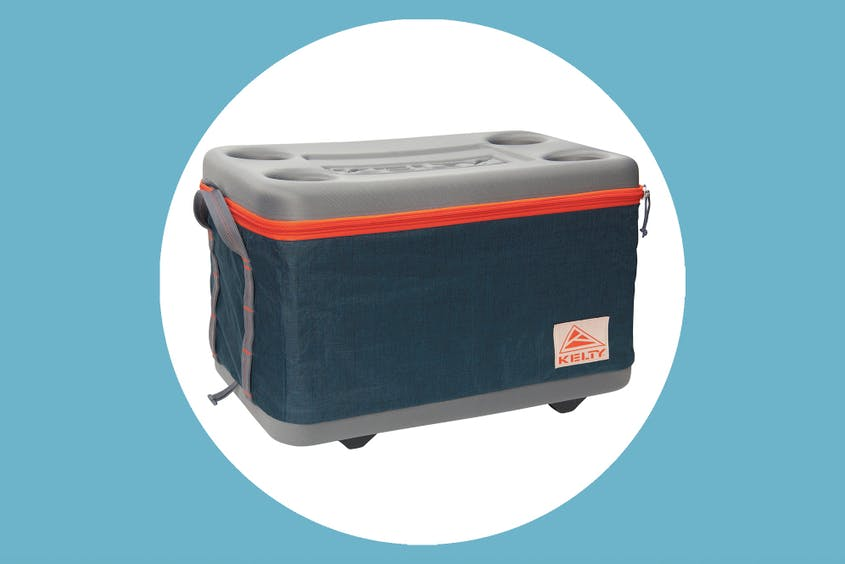 The Kelty 45L folding cooler comes in blue, while the smaller 25L version is available in green.