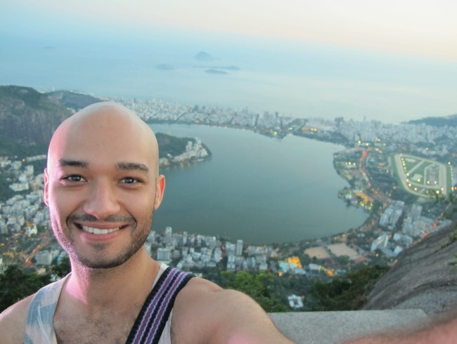 On top of Corcovado Mountain
