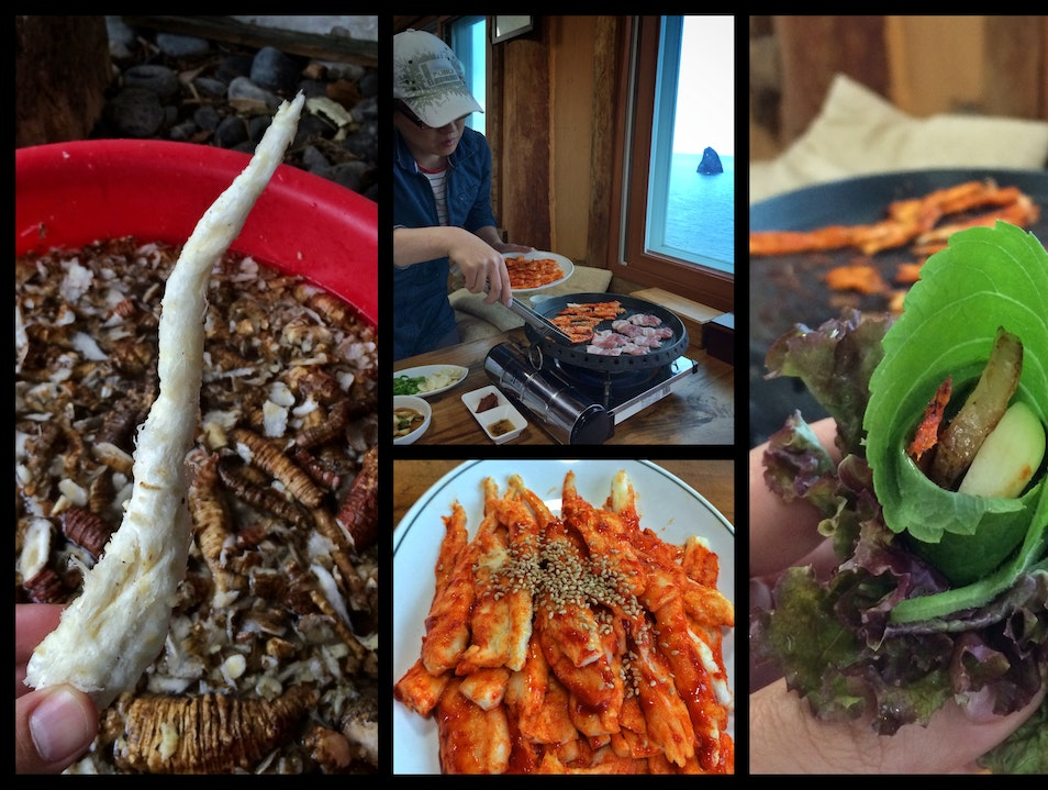 Taste a volcanic island's roots, literally... Ulleung Gun  South Korea