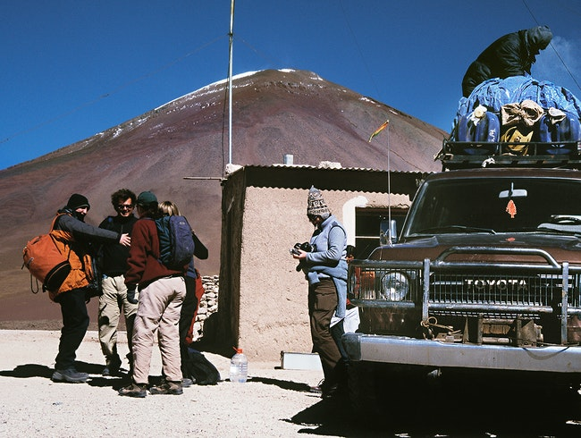 pack the gear the hit the desert in Bolivia
