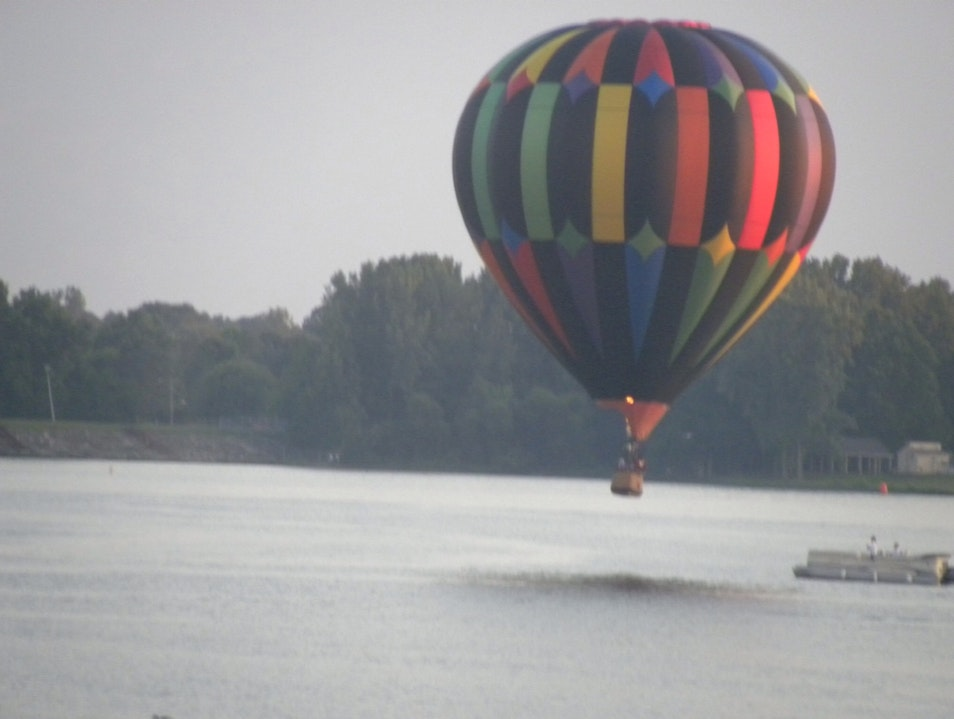 Hot Air Balloon Rides Over The Lake Noblesville Indiana United States