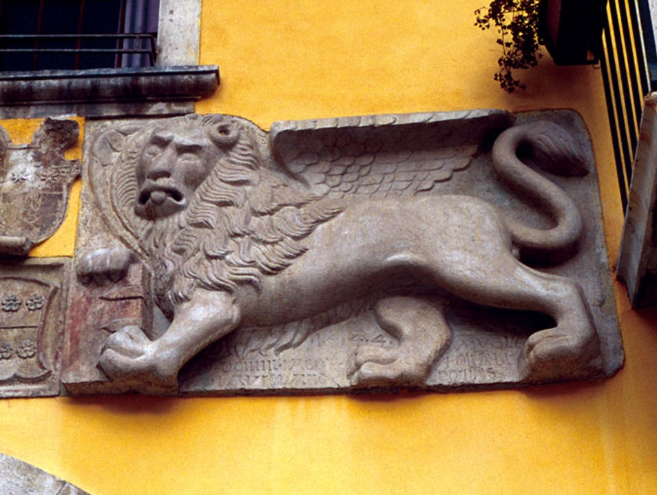 A Disgruntled Winged Lion Muggia  Italy