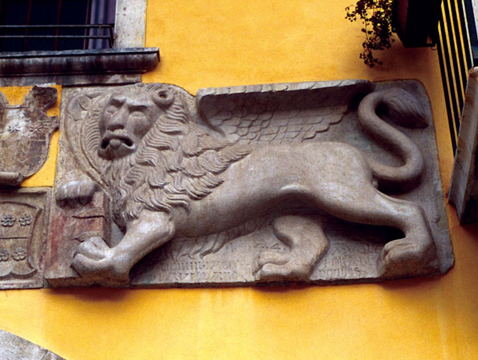 A Disgruntled Winged Lion