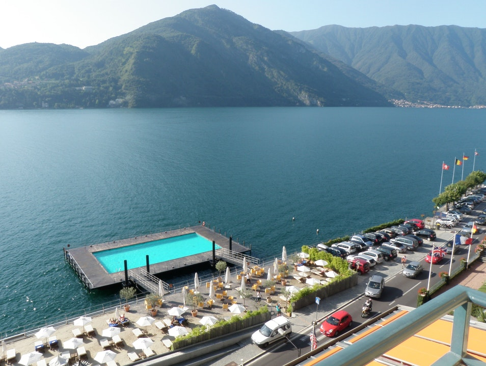 Pool in the Lake Menaggio  Italy