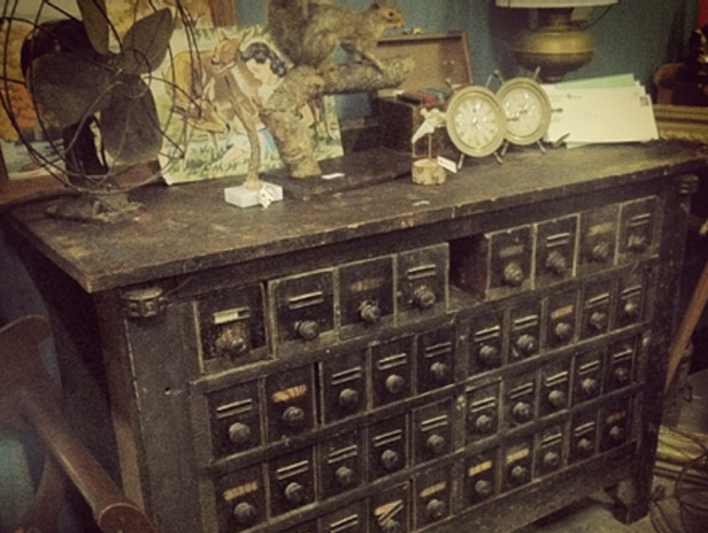 Curiosities sold at The Odd Couple Shop