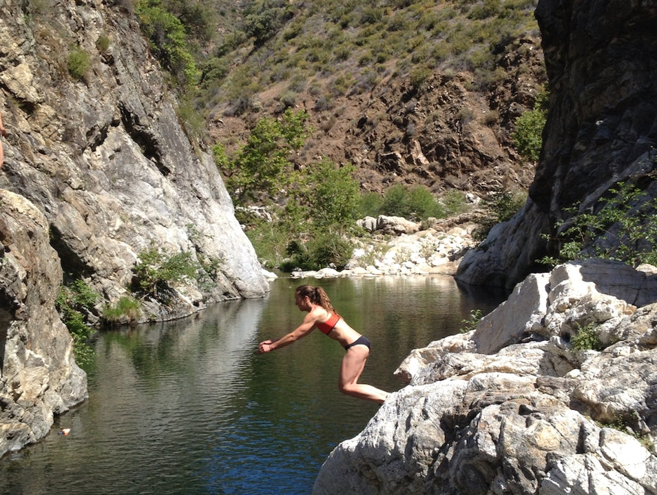 Cliff Jumping Paradise Los Padres National Forest California United States
