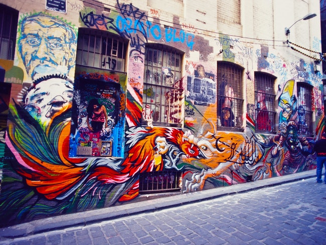 The Street Art Canvas on Hosier Lane - Melbourne, Australia