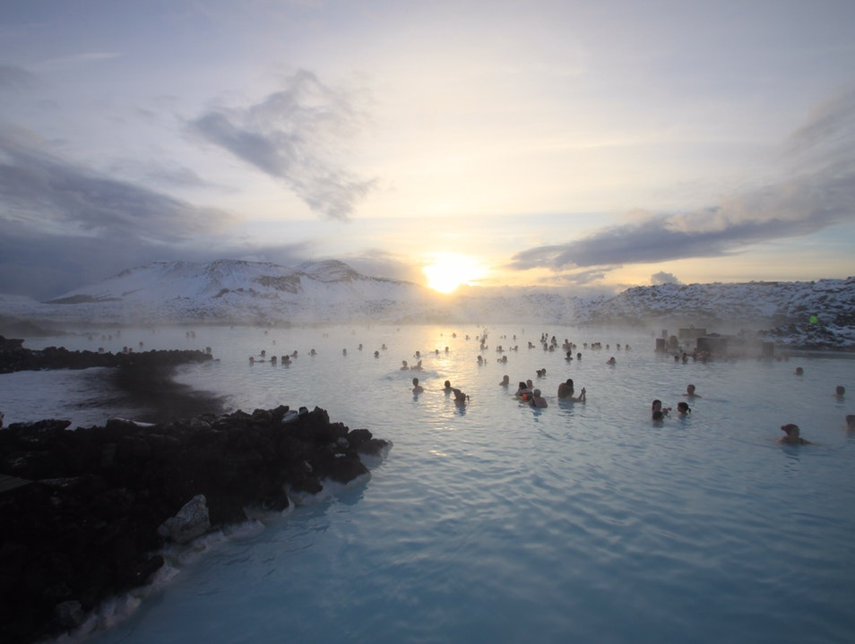 Relaxing at the Blue Lagoon Southern Peninsula Region  Iceland