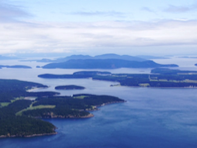 Flying Over The San Juan Islands