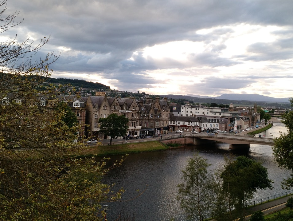 Walk along river Ness Inverness  United Kingdom