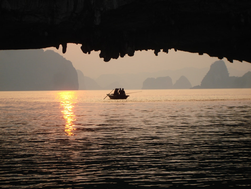 Sunset at Halong   Vietnam