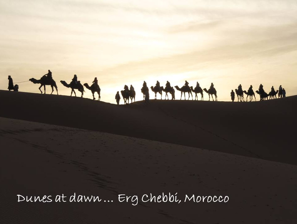 Dunes at dawn Merzouga  Morocco