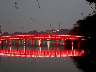 The Huc Bridge Hanoi  Vietnam