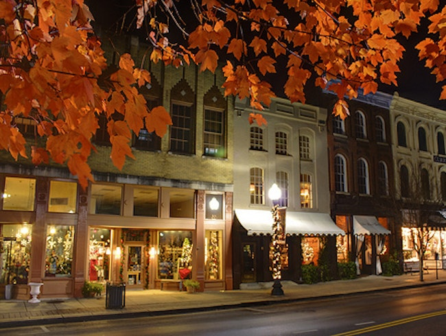 Downtown Franklin in the Fall