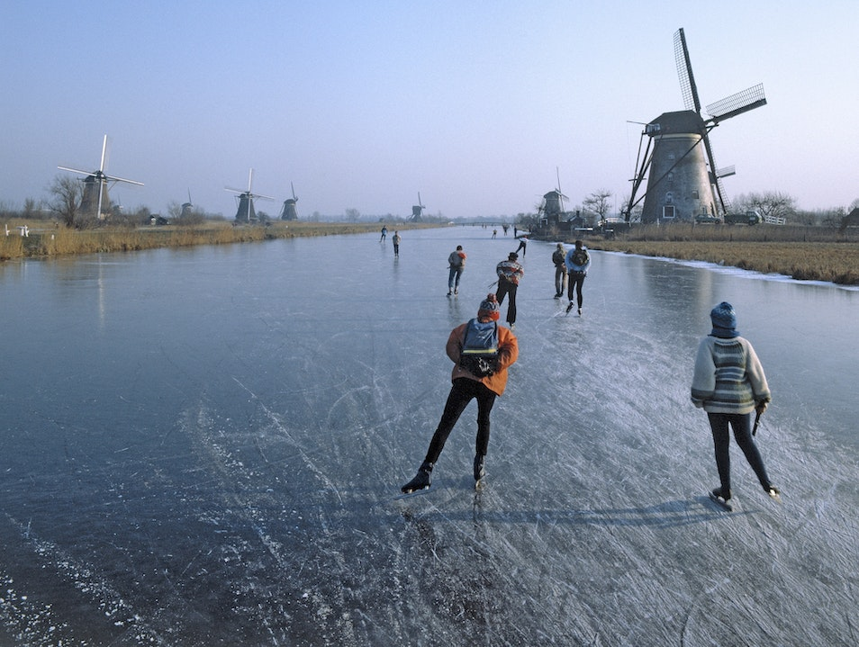 Holland on Skates Kinderdijk  The Netherlands