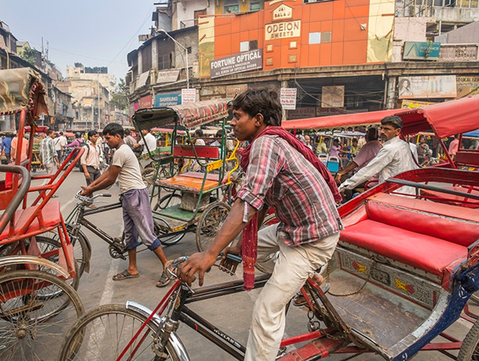 Exclusive Rickshaw Ride in Chandni Chowk New Delhi  India