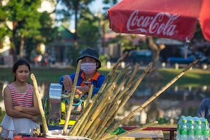 Sugar cane juice vendor