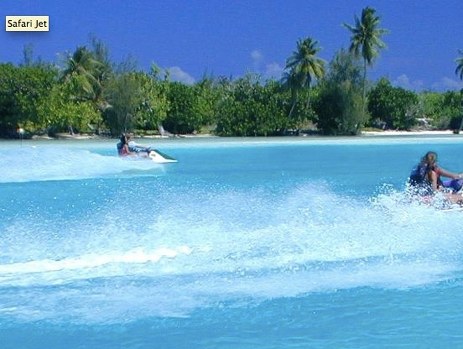 Safari Jet Lagoon Tour by Huahine Nautique Leeward Islands  French Polynesia