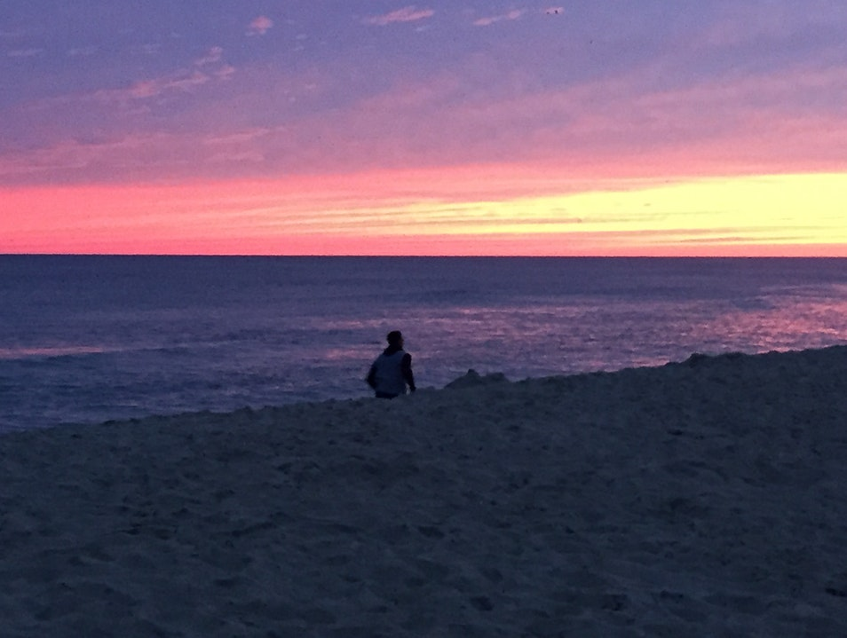 Enjoy a Perfect Sunset from Ladies Beach Nantucket Massachusetts United States