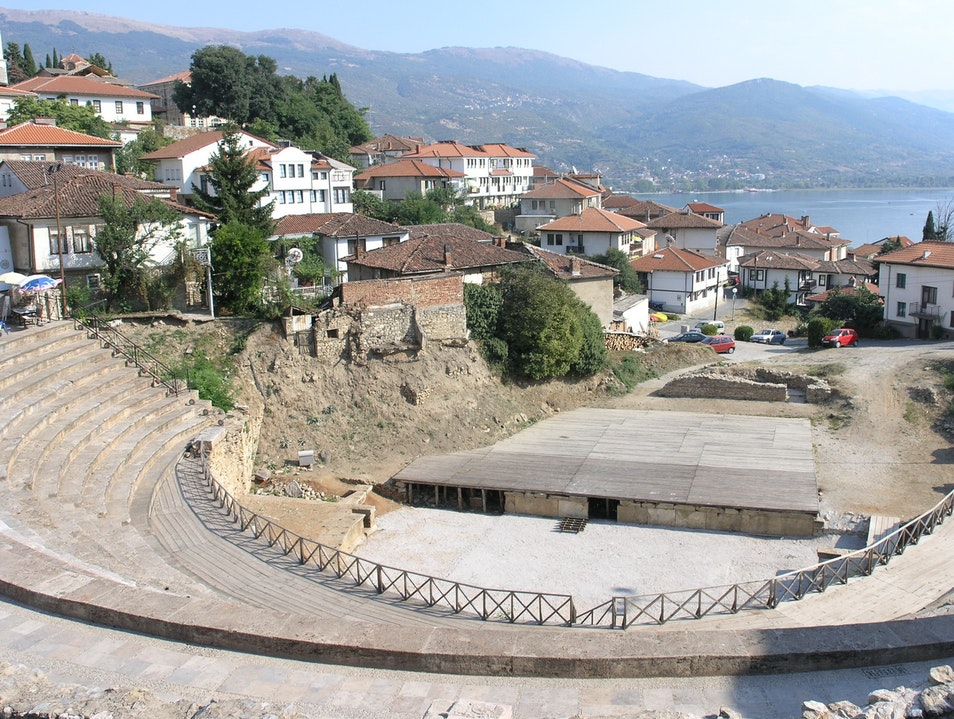 The ancient amphitheater in Ohrid  Ohrid  Macedonia (FYROM)