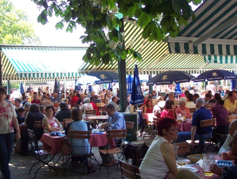 Hirschgarten:  Europe's Largest Beer Garden Munich  Germany