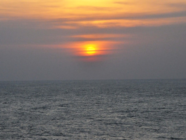 Taking in a Sunset at Kanya Kumari, the Southernmost Point in India