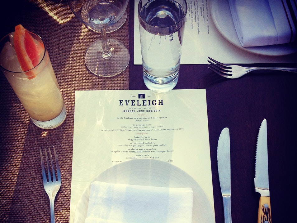Low-Key Luxury At The Eveleigh Restaurant West Hollywood California United States